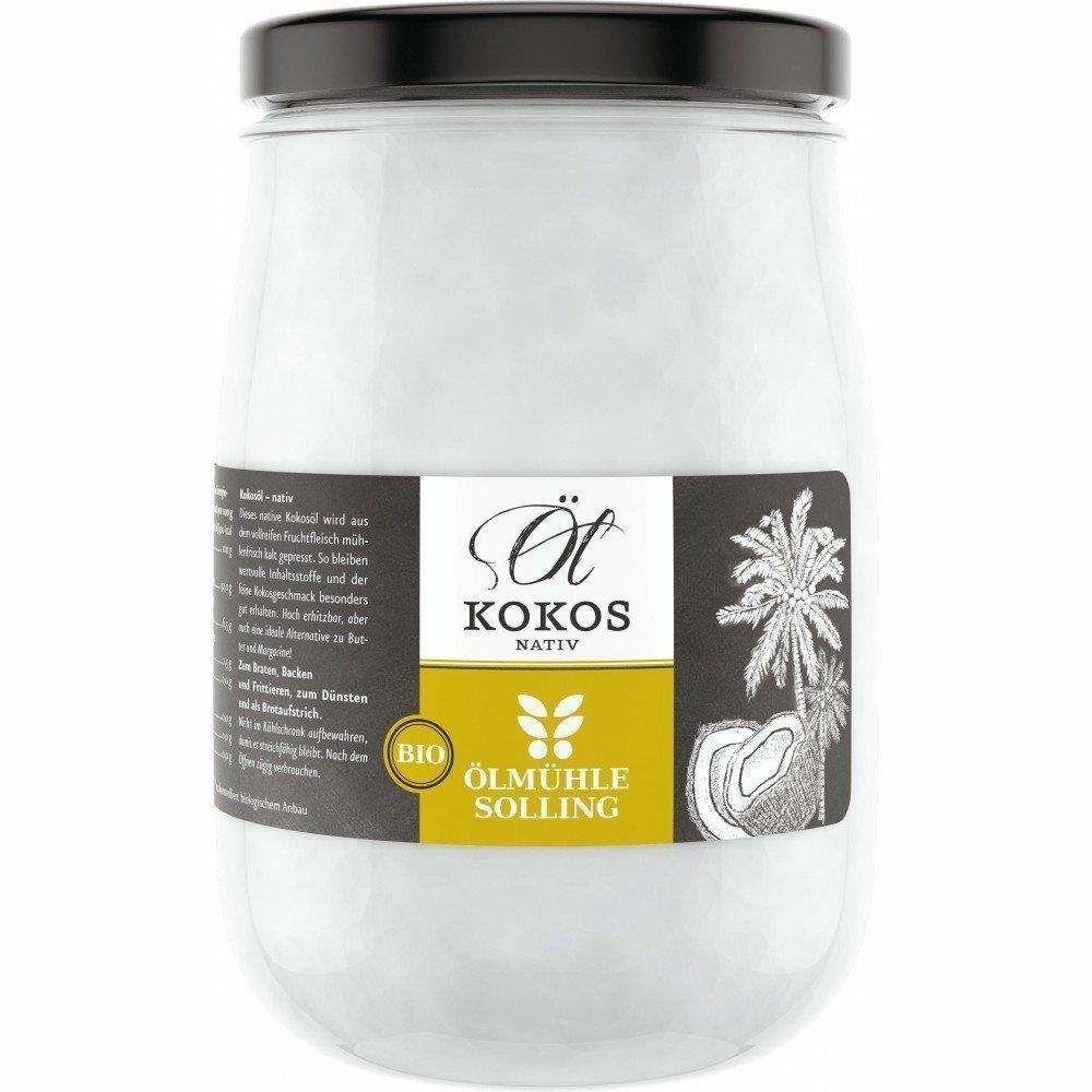 Kokosöl nativ bio Schraubglas Ölmühle Solling 1000ml