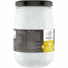 Kokosöl nativ bio Schraubglas Ölmühle Solling 1000ml Nährstoffe