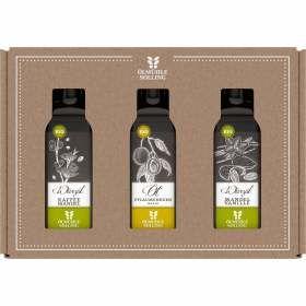 Bio Set Feinschmeckeröl drei Flaschen à 100ml KaffeeMandel Pflaume MandelVanille