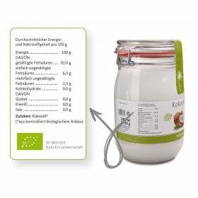 Kokosöl 1000ml bioKontor, Nährwertangaben