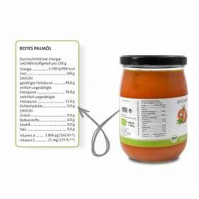 Bio Palmöl 1000ml aus nachhaltigem Anbau, Nährwertangaben