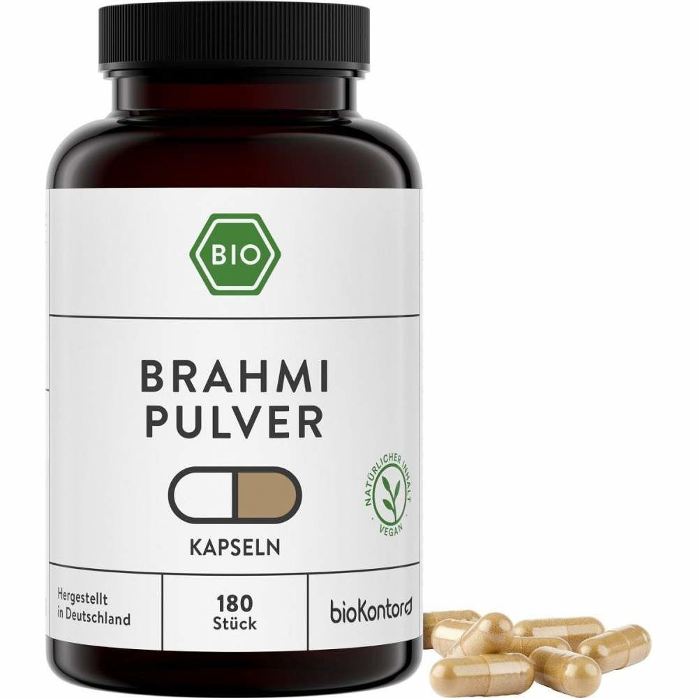 Bio Brahmi Kapseln von biokontor, 180 vegane Kapseln aus kontrolliert biologischem Anbau