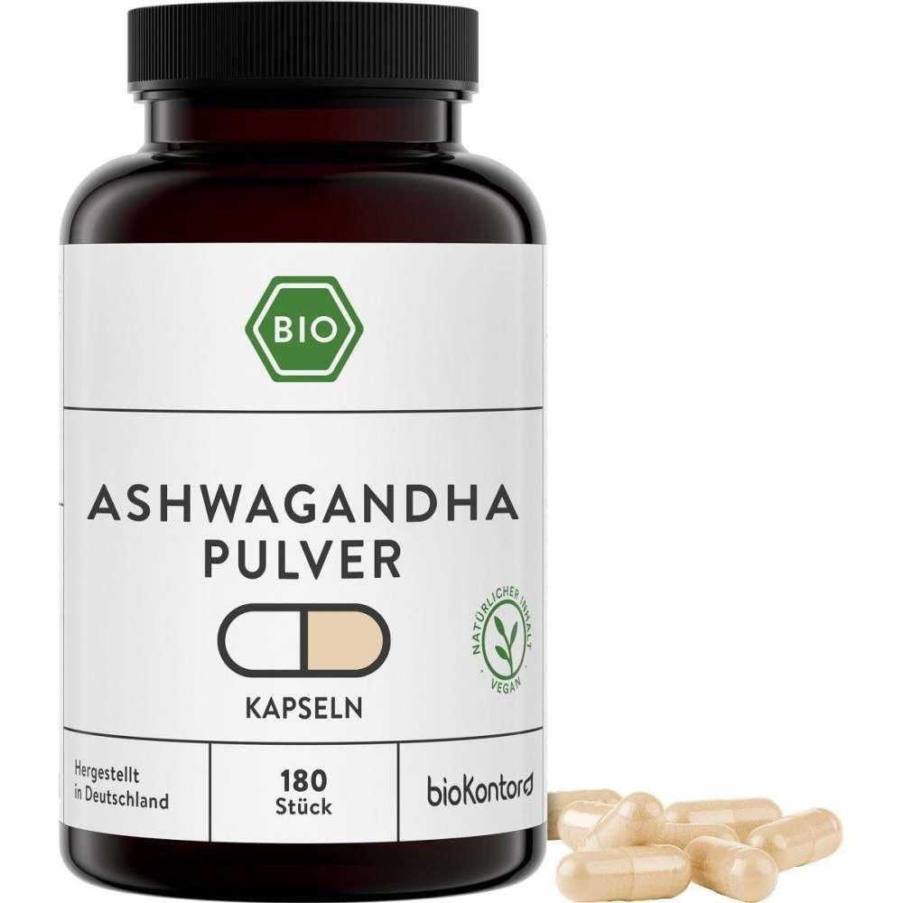 Bio Ashwagandha Kapseln von bioKontor, 180 Kapseln