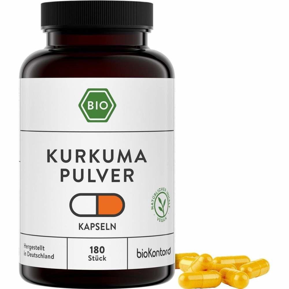 Bio Kurkuma Kapseln, 180 vegane Kapseln, von bioKontor