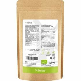 Bio Oregano gerebelt 250 g bioKontor Nährwertangaben