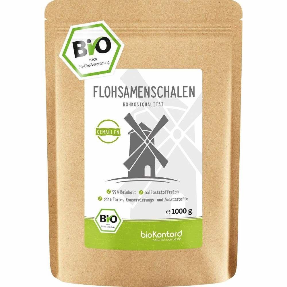 Bio Flohsamenschalen gemahlen 1000 g bioKontor