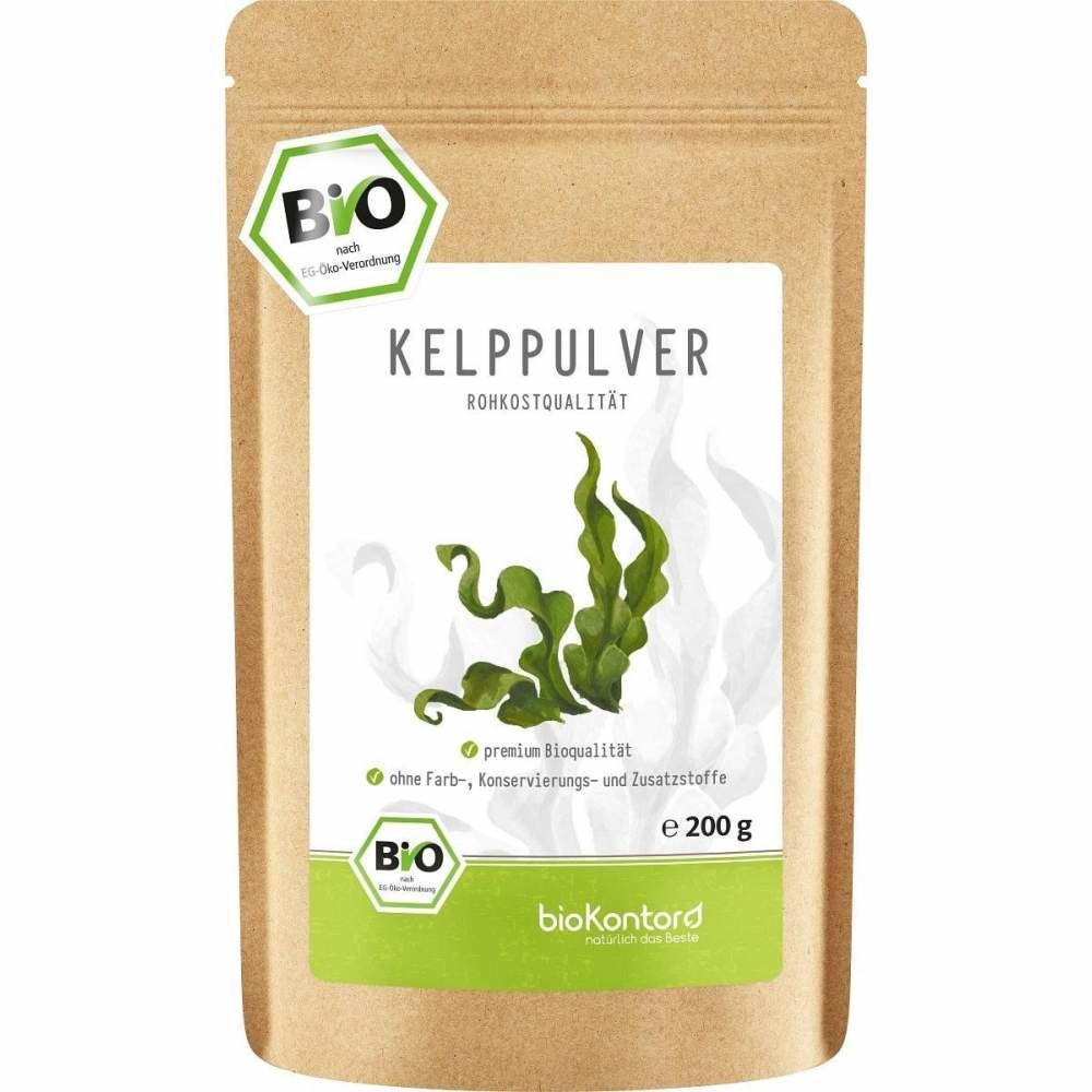 Bio Kelppulver in Rohkostqualität aus Kelppalge aus kontrolliert biologischem Anbau 200 g