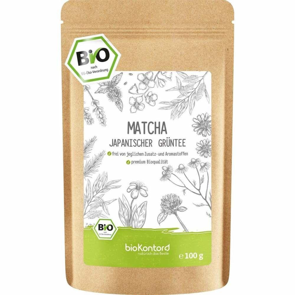 Bio Matcha Pulver 100 g, Japanischer Matchatee aus kontrolliert biologischem Anbau - perfekt für Matcha-Latte