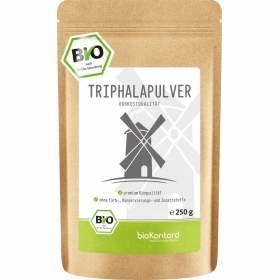 Bio Triphalapulver 250 g aus Amalaki-, Haritaki- und Bibhitakifrucht
