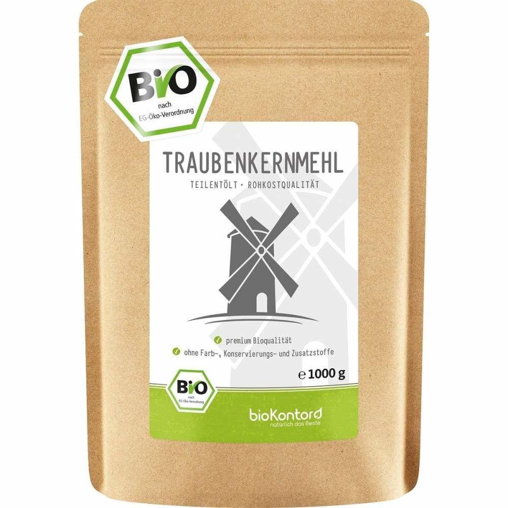 Traubenkernmehl Bio 1000g aus österreichischen Trauben gewonnen