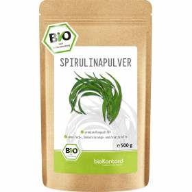 Spirulina Pulver 500g aus kontrolliert biologischem Anbau, gewonnen aus Algen