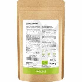 Bio Shatavaripulver aus kontrolliert biologischem Anbau 250 g in bester Bioqualität, Nährwertangaben