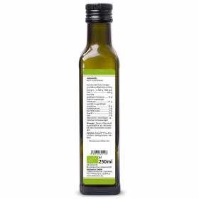 Arganöl nativ kaltgepresst 250ml Bio-Qualität, bioKontor, Nährwertangaben