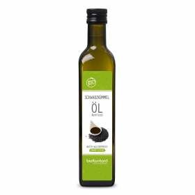 Bio Schwarzkümmelöl ungefiltert 500ml aus kontrolliert biolgoischem Anbau von bioKontor