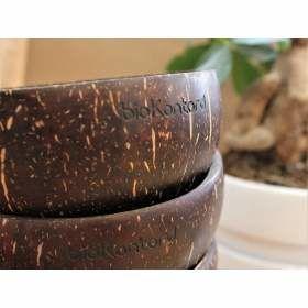 Kokosnussschale mit Logo