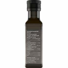 Würzöl Koriander Fenchel bio 100ml Nährstoffgehalt