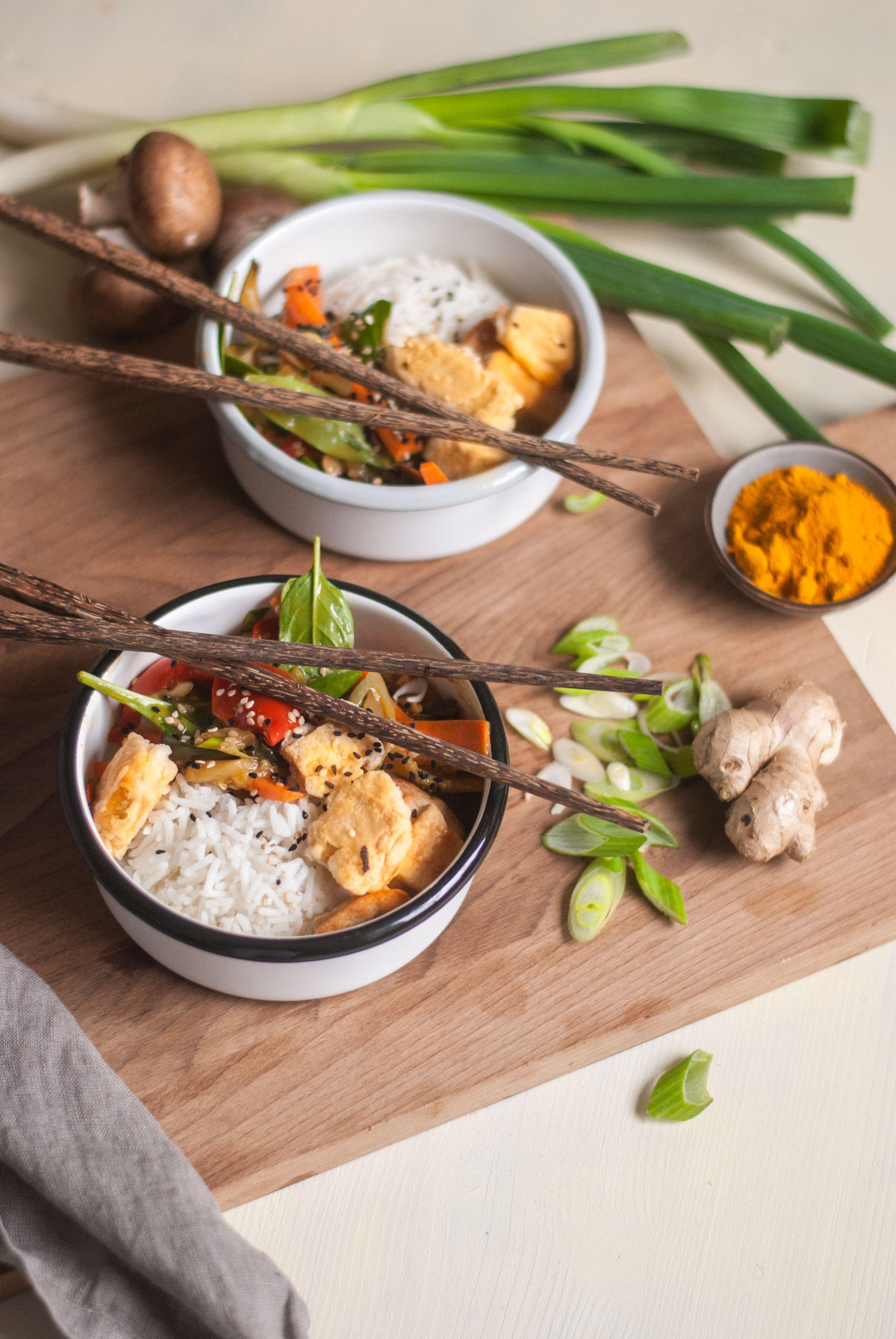 Knuspriger Tofu mit Kurkuma