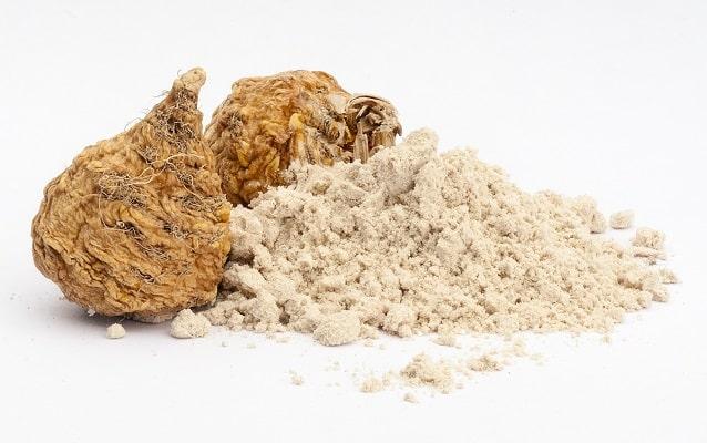 Fein vermahlenes bio Macapulver mit ganzer Macaknolle von bioKontor