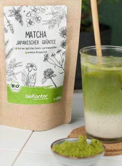 Iced-Matcha-Latte mit bio Matchapulver von bioKontor