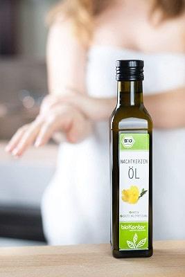 Bio Nachtkerzenöl aus kontrolliert biologischem Anbau von bioKontor, ideal zur natürlichen Hautpflege