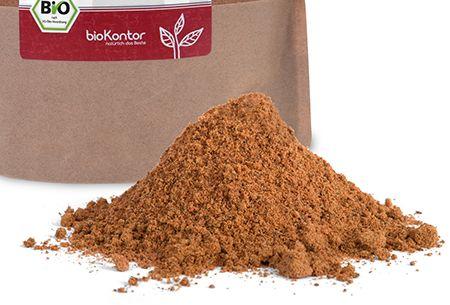 Feines Pulver aus Herstellung von bio Hagebuttenpulver von bioKontor