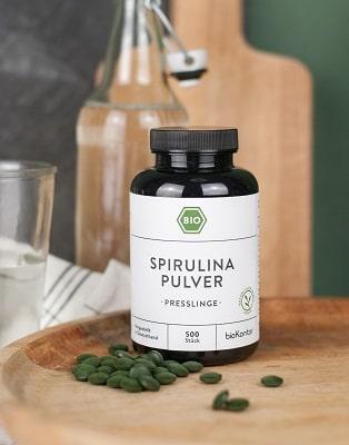 Bio Spirulina Presslinge zur einfachen Einnahme