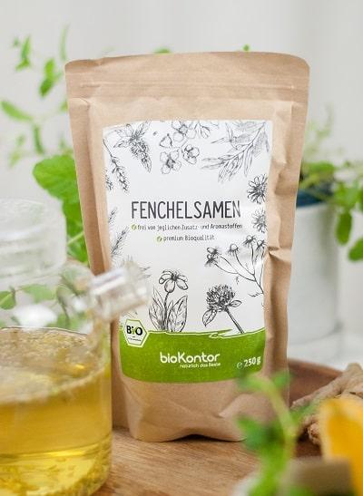 Bio Fenchelsamen 250g von bioKontor, Fenchelsamen aus kontrolliert biologischem Anbau