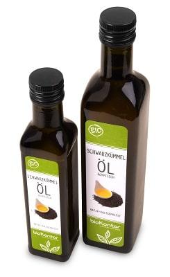 Bio Schwarzkümmelöl 250 ml und 500ml aus kontrolliert biologischem Anbau von bioKontor